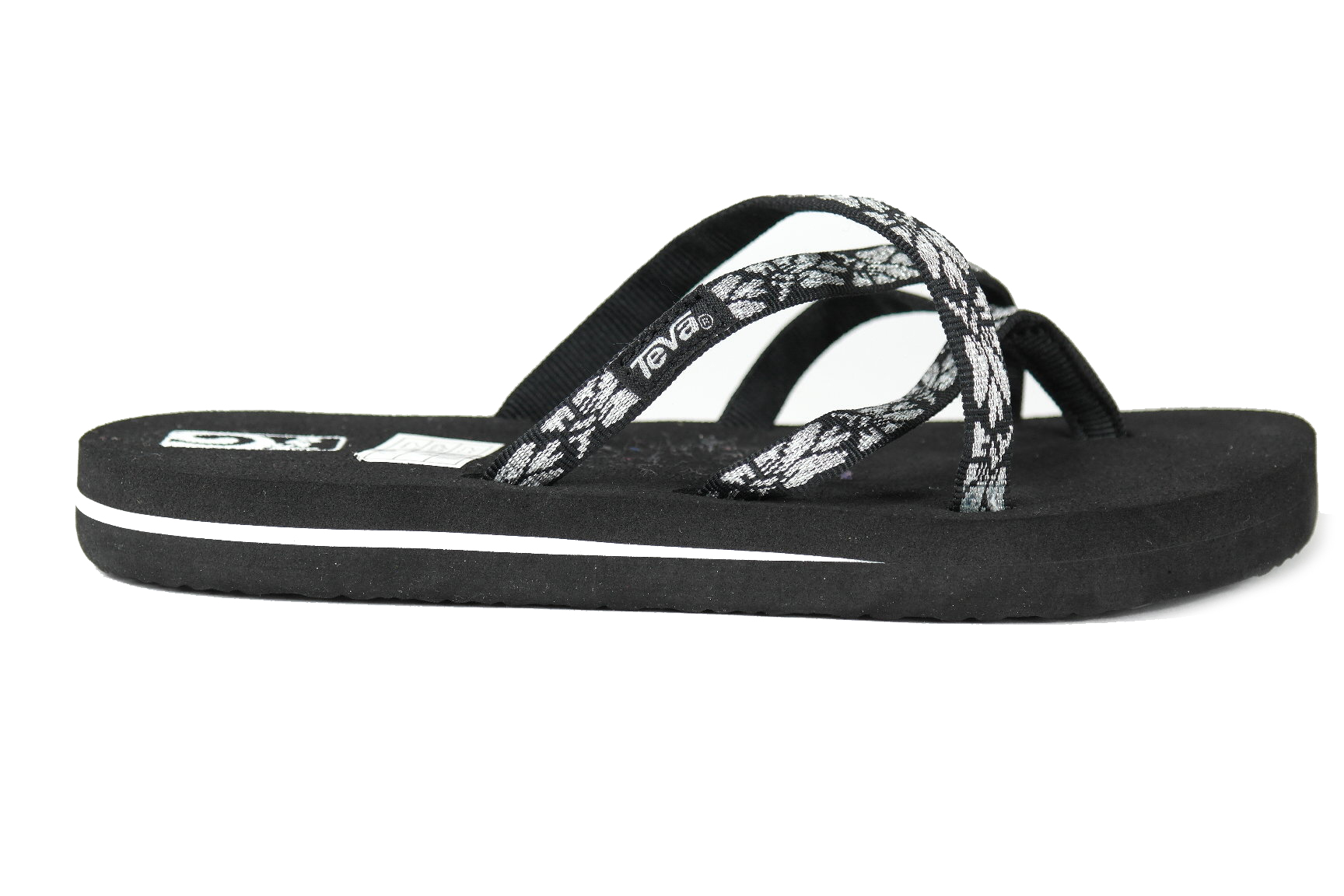4556ef7e39867a Teva Olowahu meisjes slippers zwart dessin van slippers   sandalen