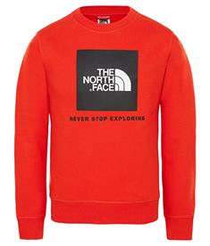 The North Face Box Crew jongens casual sweater rood