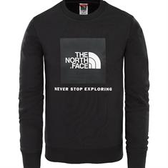 The North Face Box Crew jongens casual sweater zwart