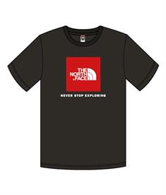 The North Face Box Tee jongens shirt zwart