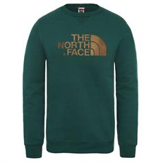 The North Face Drew Peak Crew heren casual sweater donkergroen