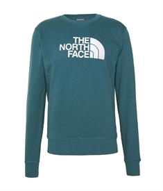 The North Face Drew Peak Crew heren casual sweater petrol