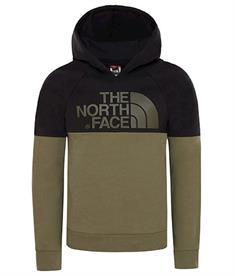 The North Face Drew Peak Raglan jongens casual sweater donkergroen