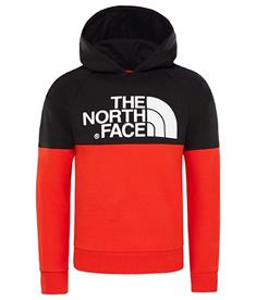 The North Face Drew Peak Raglan jongens casual sweater rood