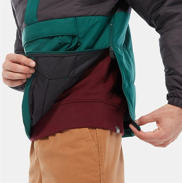 The North Face Insulated Fanorak heren casual jas donkergroen
