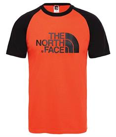 The North Face Raglan Easy Tee heren shirt rood