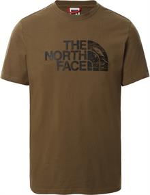 The North Face S/S WOOD DOME TEE heren shirt bruin