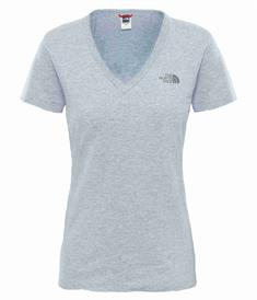 The North Face Simple Dom Tee dames shirt licht grijs