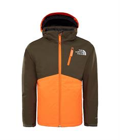 The North Face Snow quest plus jongens ski/snowboard jas donkergroen