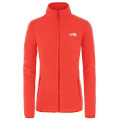 The North Face Women's 100 geen rood maar Coral Glacier Full Zip dames fleece rood