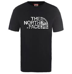 The North Face Woodcut Dome Tee heren shirt zwart