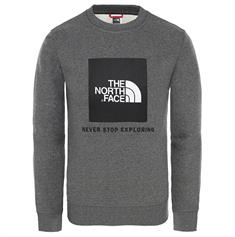 The North Face Youth Box Crew jongens casual sweater antraciet