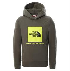 The North Face Youth Box Crew jongens casual sweater donkergroen