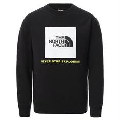 The North Face Youth Box Crew jongens casual sweater zwart