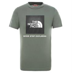 The North Face Youth Box S/S Tee jongens shirt groen