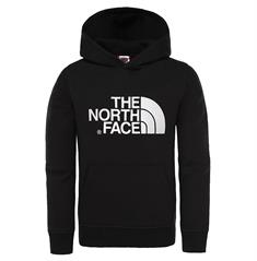 The North Face Youth Drew Peak Po Hoodie jongens casual sweater zwart
