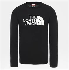 The North Face Youth Easy L/S Tee jongens casual sweater zwart