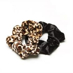 TheSportfashion Scrunchies Panther haarbandjes zwart