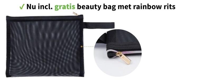 TheSportfashion Set van 3 Weerstandsbanden Premium incl. Luxe Beauty Bag exerciseband zwart