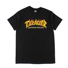 Thrasher Fire Logo S/S heren shirt zwart