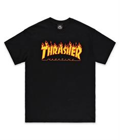 Thrasher FLAME heren shirt zwart