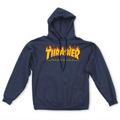 Thrasher Flame Hooded Sweat heren sweater marine