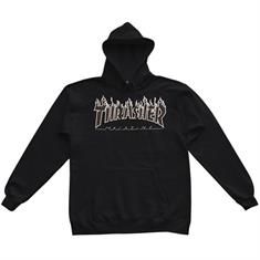 Thrasher Flame Hooded Sweat heren sweater zwart