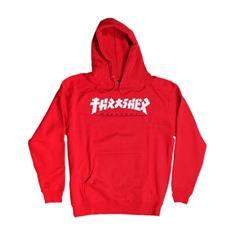 Thrasher Godzilla hoodie heren sweater rood