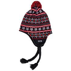 Thrasher Logo Sherpa Beanie muts skate/snow zwart