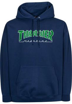 Thrasher Outlined Hoodie Heren sweater marine