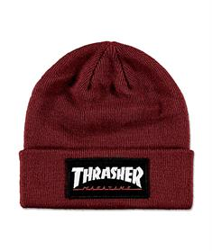 Thrasher Patch beanie muts skate/snow bordeau