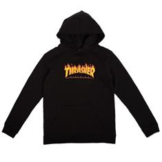 Thrasher YOUTH FLAME HOODED SWEAT jongens sweater zwart