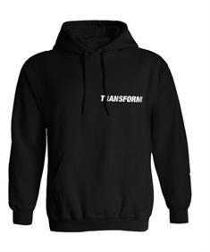Transform Gloves The Fast Text Hood heren sweater zwart