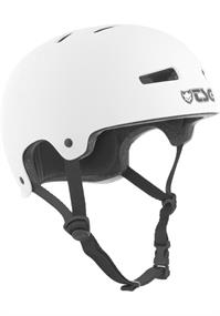 TSG Evolution Satin White bmx/skate helm wit