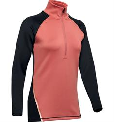 Under Armour 1/2 Zip Colour Block dames hardloopshirt rose