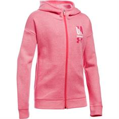 Under Armour Favorite Full Zip meisjes sweater zalm