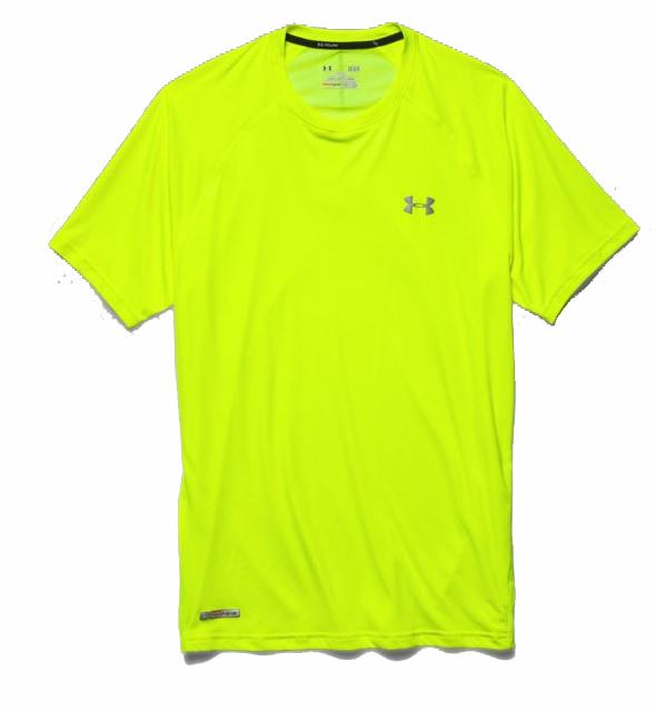 heren shirt Under Armour Flyweight Run Tee 1244172.731 GEEL