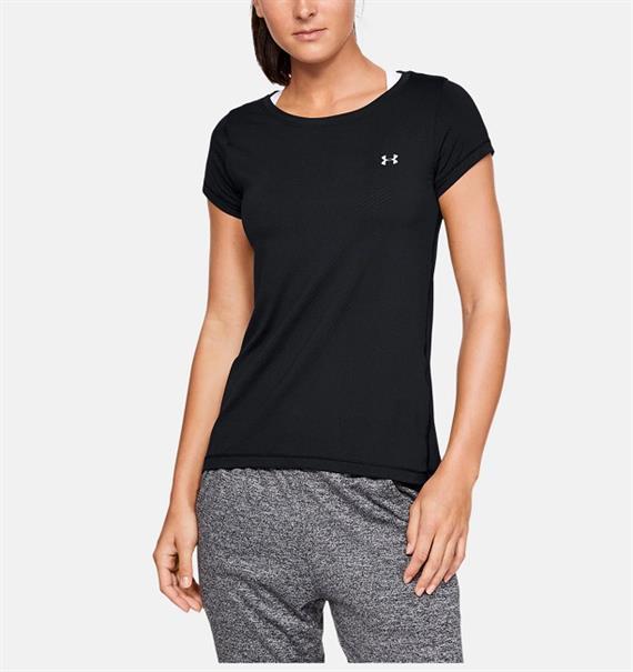 Under Armour Heat Gear Short Sleeve dames sportshirt zwart