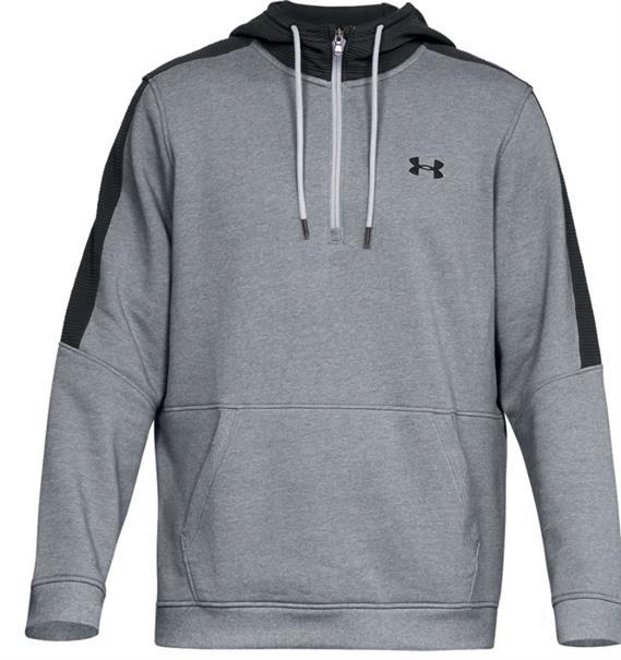 Under Armour Micro Thread 1/2 Zip heren sportsweater midden grijs