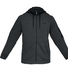 Under Armour Micro Thread Zip heren sportsweater antraciet