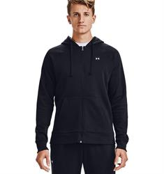 Under Armour NOS UA Rival Fleece FZ Hoodie.Black heren sportsweater zwart