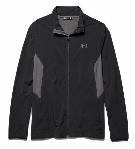 heren sport sweater Under Armour Pulse 2.0 jacket 1253557.001 ZWART
