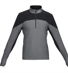 Under Armour Quialifier 1/2 Zip heren hardloopshirt lange mouwen zwart