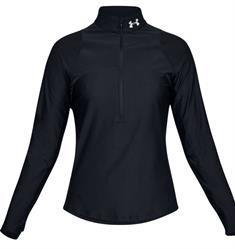 Under Armour Quilifier Half Zip dames hardloopshirt lange mouwen zwart