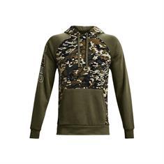 Under Armour Rival FLC Camo Script heren sportsweater groen dessin