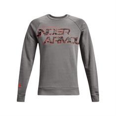 Under Armour Rival Fleece Camo heren sportsweater grijs