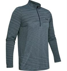 Under Armour Seamless 1/2 Zip heren hardloopshirt lange mouwen antraciet