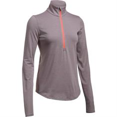 Under Armour Steaker 1/5 Zip Top dames hardloopshirt lange mouwen zalm