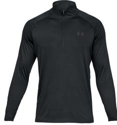 Under Armour Tech 2.0 1/2 Zip heren hardloopshirt lange mouwen zwart