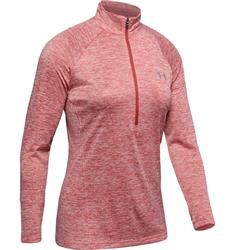 Under Armour Tech Twist 1/2 Zip dames hardloopshirt rose